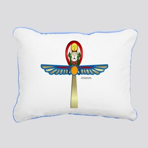 Bast Ankh2 Rectangular Canvas Pillow